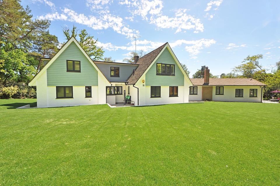 dům a trávník