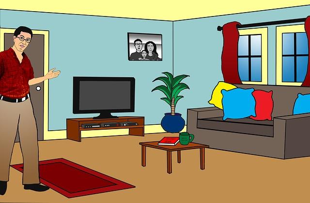 malý byt ilustrace