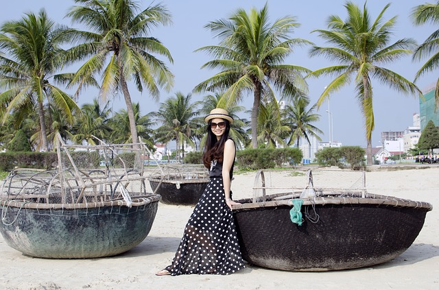 vietnamka na pláži