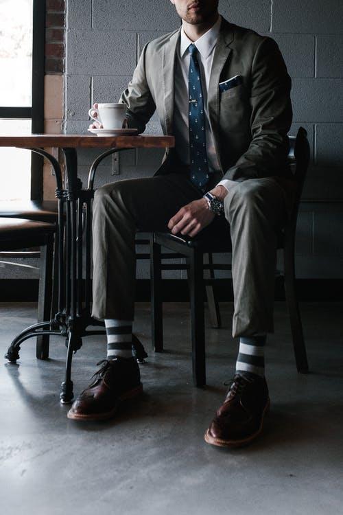 podnikatel s kávou